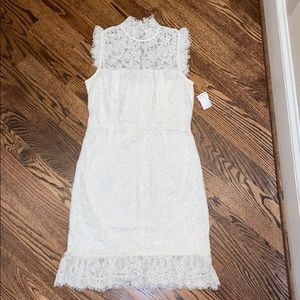Impeccable Pig White Laced Dress- Small